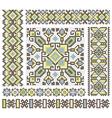 Embroidered good like handmade cross-stitch vector