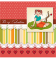 Young pretty girl with cupid bow valentines day vector