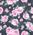 Classic rose seamless background vector