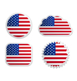 Usa flag labels vector