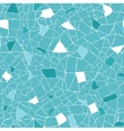 Blue and white mosaic texture seamless pattern vector