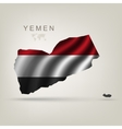 Flag of yemen as a country vector