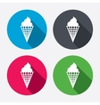 Ice cream sign icon sweet symbol vector