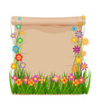 Concept grass of spring with blank paper vector