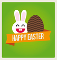 Happy easter cards bunny egg vector