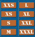 Size clothing labels - vector