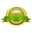 Eco friendly emblem vector