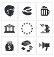 Germany icons set vector