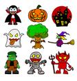 Halloween character cartoon vector