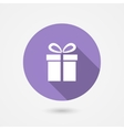 Gift icon with long shadow vector