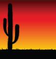 Cactus big black silhouette vector