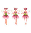 Pink floral fairy vector