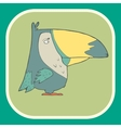 Hand drawn retro cartoon bird vector