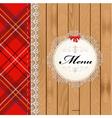 Scottish menu vector