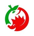 Hedgehog and apple logo vector