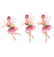 Pink floral fairy3 vector