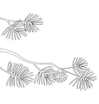 Pine branch contours vector