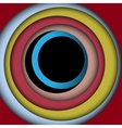 Multicolored paper circles and frame background vector
