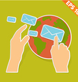 Email communication - - eps10 vector