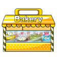 A bakery stall vector
