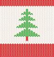 Knitting green vector