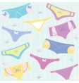 Seamless pattern with colourful cute panties on vector