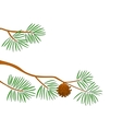 Fir tree branch vector