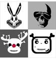 Skulls set vector