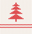 Knitting red vector