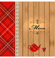 Scottish food menu design vector