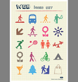 Family and vacation human figures icons set vector