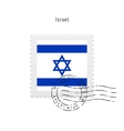 Israel flag postage stamp vector