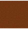 Seamless coffee beans background vector