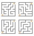 Set of mazes vector