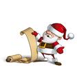 Smilling santa gift scroll vector