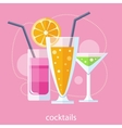 Set of alcoholic cocktails vector