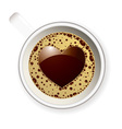 Coffee cup love heart vector
