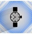 Watchclock flat modern web button on a flat vector