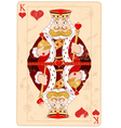 King of hearts vector