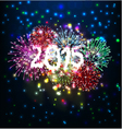 Happy new year with firework vector