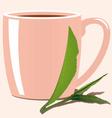 Tea leaves vector