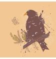 Bird with flowers3 vector
