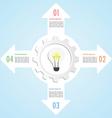 Gear and lightbulb infographic design template vector