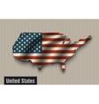 United states flag on vintage background vector