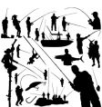 Fishermen and fishing vector