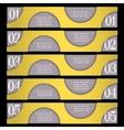 Retro design template with circles vector