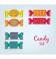 Candy set rectangular square oval lines and dots vector