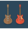 Flat icons of guitar vector