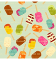 Ice cream seamless vector