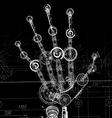 Hand of many mechanisms vector